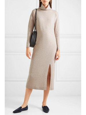 ALLUDE wool and cashmere-blend turtleneck midi dress