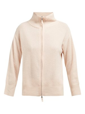 ALLUDE zip up cashmere cardigan