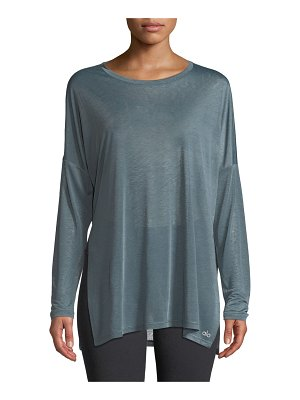 Alo Yoga Arrow Crewneck Long-Sleeve Tee