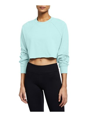 Alo Yoga Double Take Raglan-Sleeve Cropped Sweatshirt