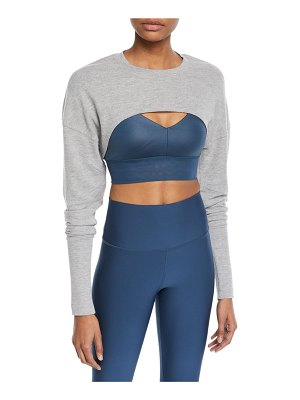 Alo Yoga Extreme Long-Sleeve Cropped Active Top