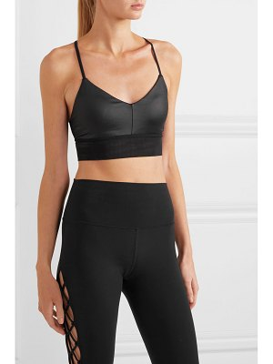 Alo Yoga lush mesh-trimmed stretch sports bra