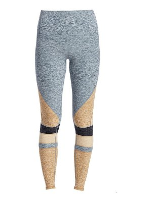 Alo Yoga moment high-waist brushed two-tone leggings