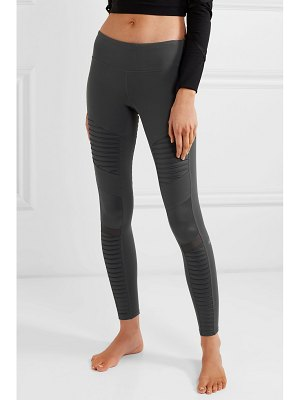Alo Yoga moto mesh-paneled stretch leggings