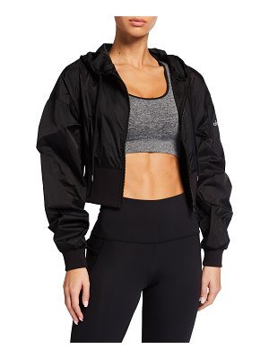 Alo Yoga Nebula Zip-Front Hooded Crop Jacket