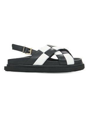 ALOHAS 20mm marshmallow scacchi leather sandals