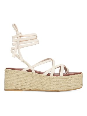 ALOHAS 70mm paw-paw leather espadrille wedges