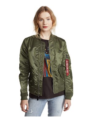 ALPHA INDUSTRIES laced bomber jacket