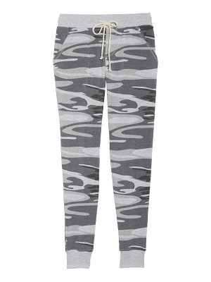 Alternative camo print fleece jogger pants
