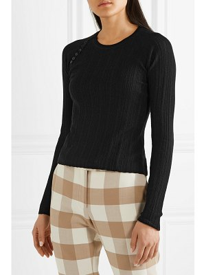 Altuzarra barca pointelle-knit wool and cashmere-blend sweater