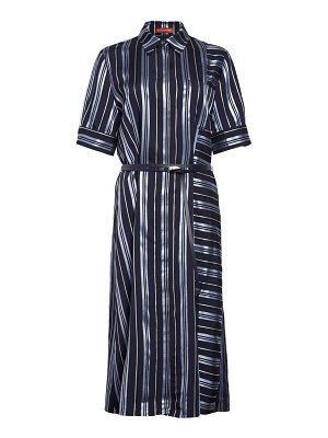 Altuzarra belted stripe satin shirtdress
