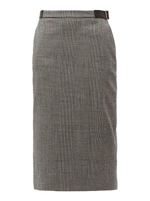 Altuzarra bolan prince of wales-checked wool-blend skirt