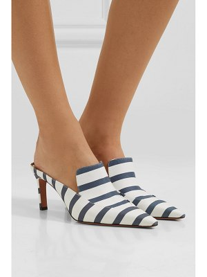 Altuzarra davidson striped faille mules