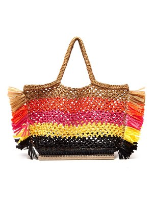 Altuzarra espadrille large striped woven totebag