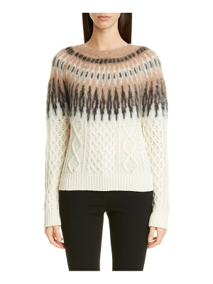 Altuzarra fair isle cable sweater