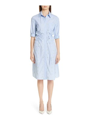 Altuzarra floral & gingham poplin shirtdress