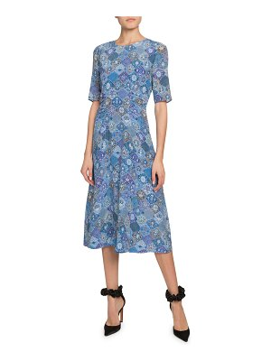 Altuzarra Floral Print Crewneck Dress