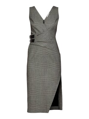 Altuzarra lazarus prince of wales checked wool blend dress