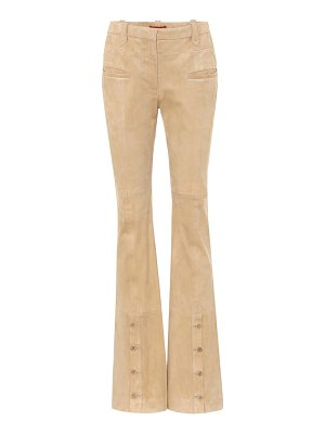 Altuzarra ned high-rise suede flared pants