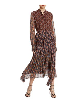 Altuzarra Patchwork-Print Midi Shirtdress