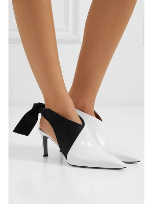 Altuzarra patent-leather and satin slingback mules