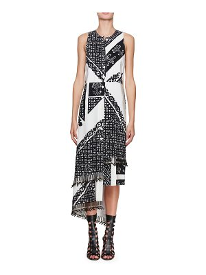 Altuzarra Pavilion Sleeveless Bandana-Print Silk Midi Dress