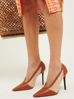 Altuzarra peppino leather & mesh pumps