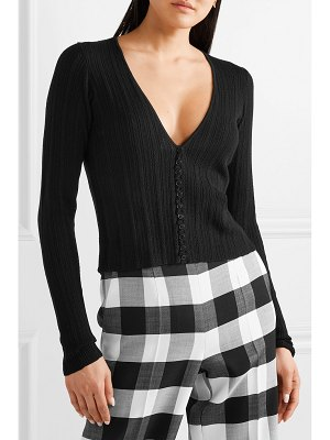 Altuzarra pointelle-knit wool and cashmere cardigan