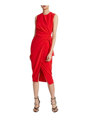 Altuzarra Ruched Belted Midi Dress