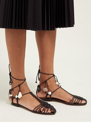Altuzarra tullio shell braided leather sandals
