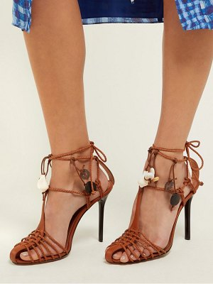 Altuzarra tullio shell embellished leather sandals