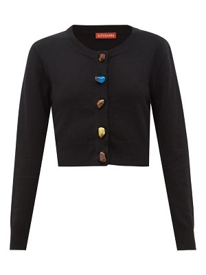 Altuzarra wellmore cropped wool and cashmere cardigan