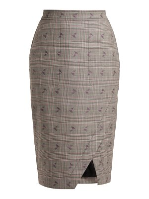 Altuzarra Wilcox Prince of Wales-checked wool-blend skirt