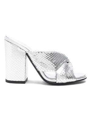 ALUMNAE Snakeskin Embossed Leather Soft X Block Heels