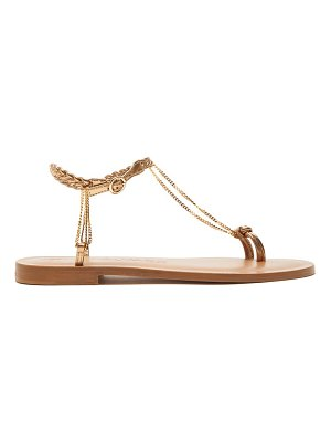 ALVARO alila chain plaited leather sandals