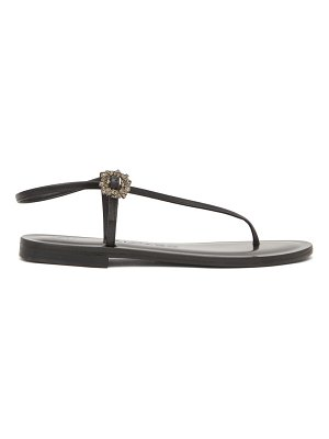 ALVARO andreina crystal-buckle asymmetric leather sandals