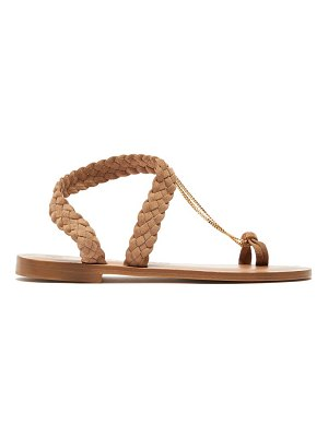 ALVARO angela chain plaited suede sandals