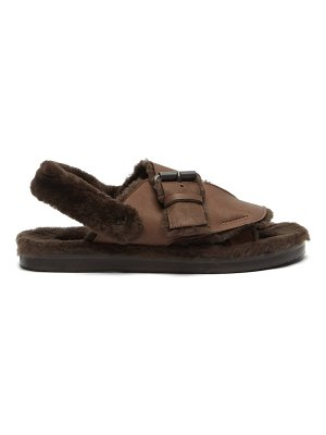 ALVARO shearling-lined leather sandals