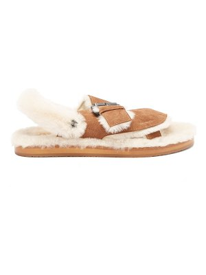 ALVARO shearling-lined suede sandals