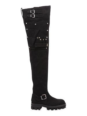 Alyx 40mm utility over the knee canvas boots