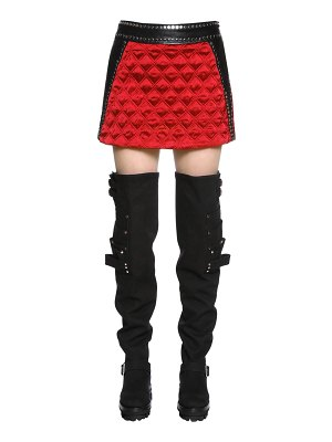 Alyx Leather & quilted satin mini skirt