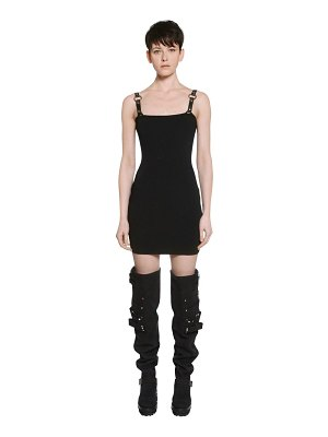 Alyx Rib knit dress w/ faux leather straps