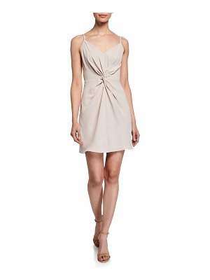 Amanda Uprichard Ellie Twist-Front Slip Dress
