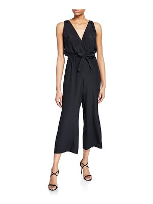 Amanda Uprichard Gunnar Sleeveless Cropped Silk Jumpsuit