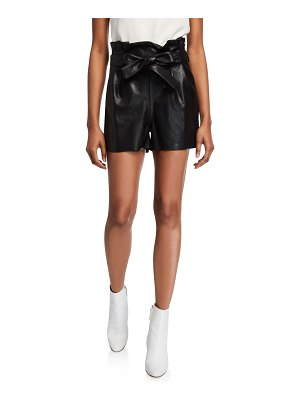 Amanda Uprichard Tessi Faux Leather Paperbag Shorts