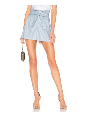 Amanda Uprichard tessi faux leather shorts