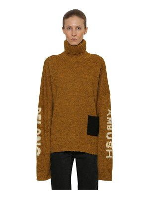 Ambush Logo intarsia wool knit sweater