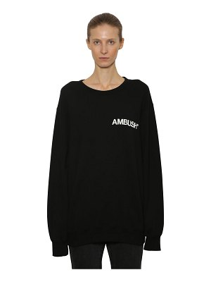 Ambush Logo printed cotton sweatshirt