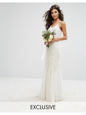 Amelia Rose Bridal Embellished Maxi Dress with Embellishment
