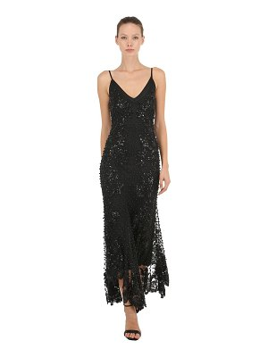 AMEN COUTURE Beaded & sequined long flared dress
